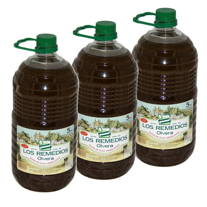 Aceite Oliva Virgen Extra Botella 5L x 6 unidades PET