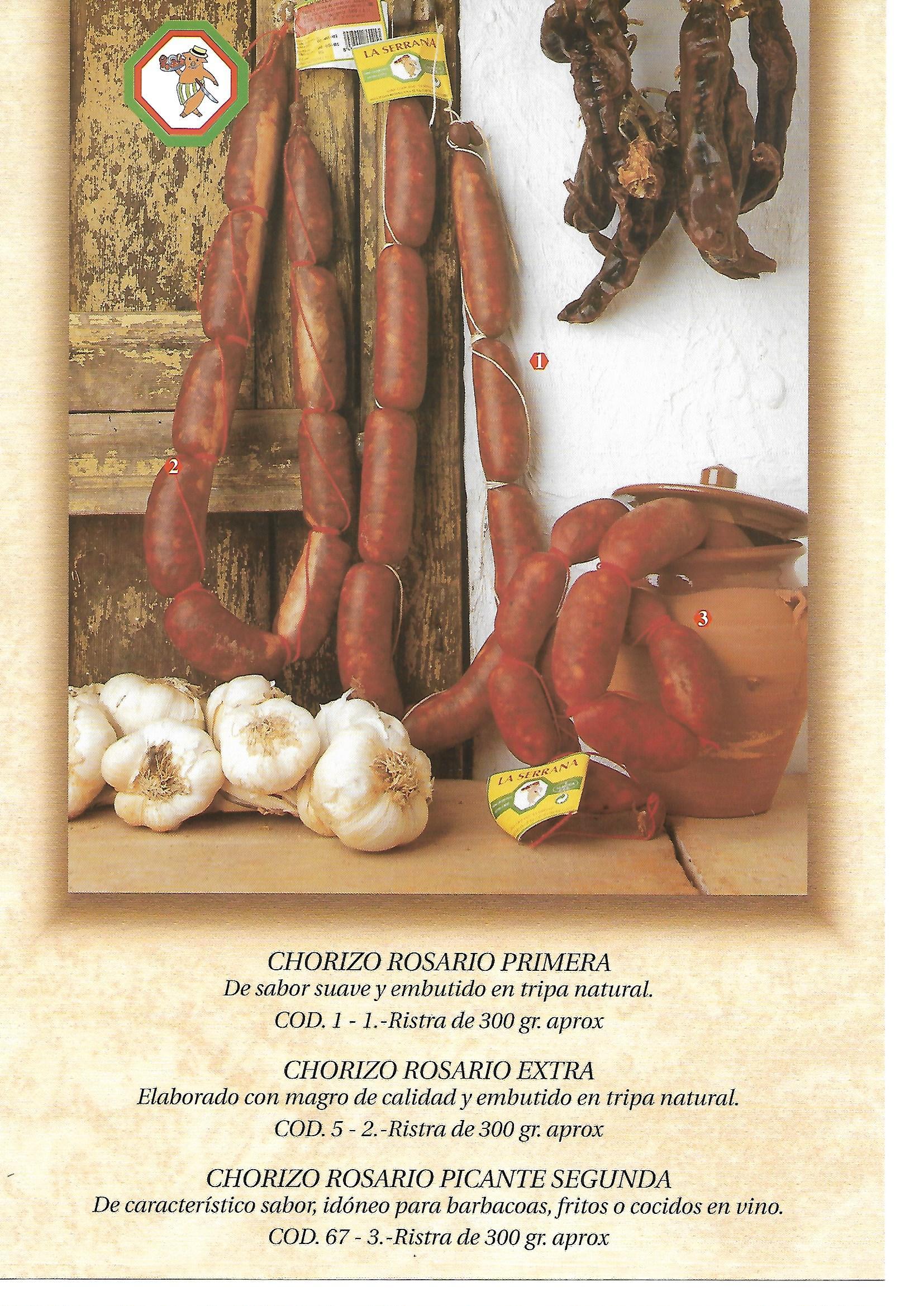 Chorizo Casero Rosario La Serrana Olvera
