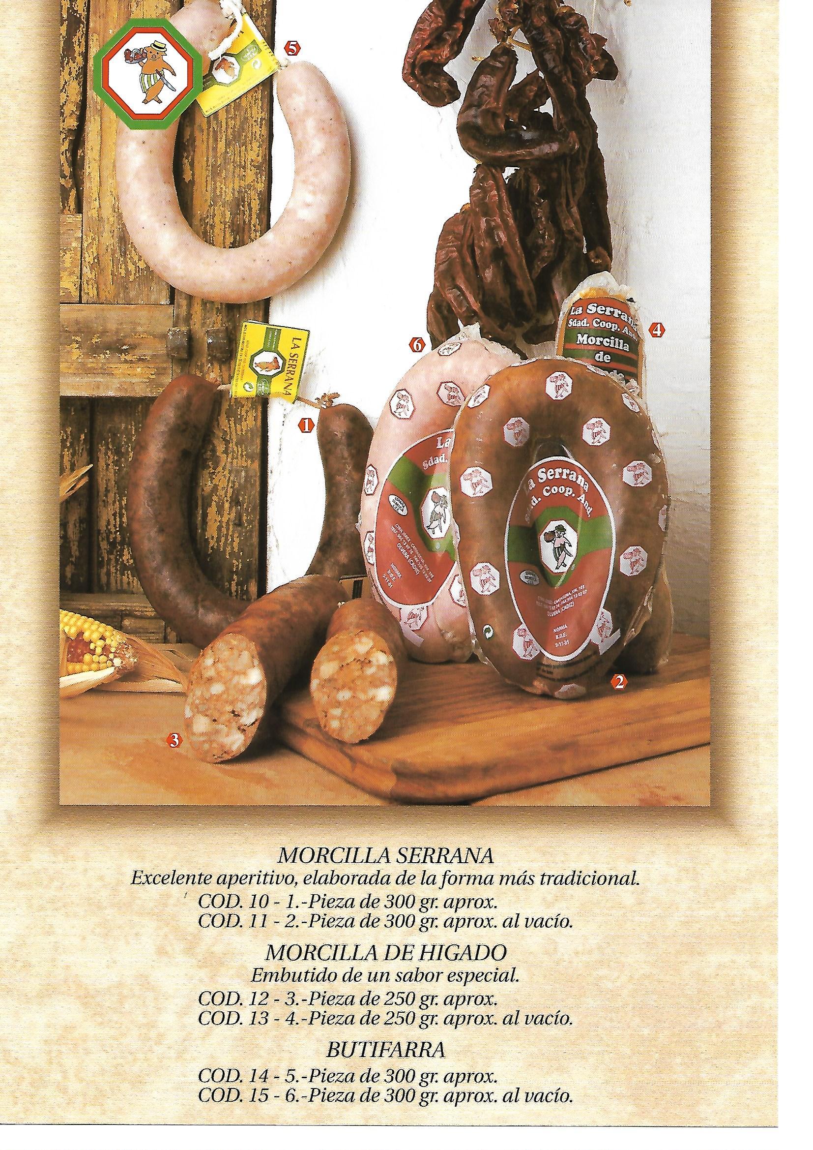 Butifarra Olvera La serrana Embutidos tradicionales
