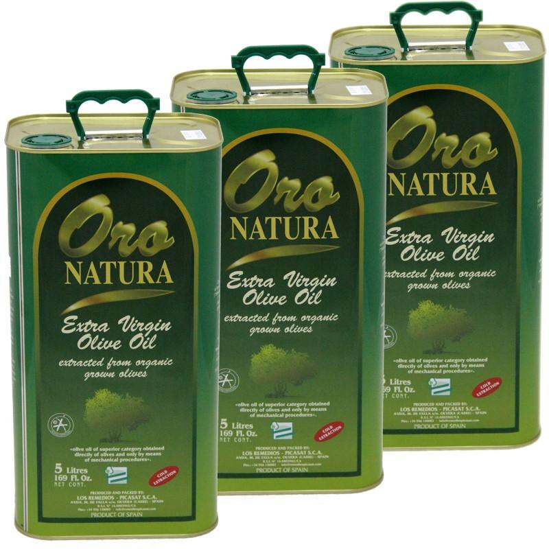 Aceite Oliva Virgen Extra Ecologico Botella 5L x 3 unidades LATA
